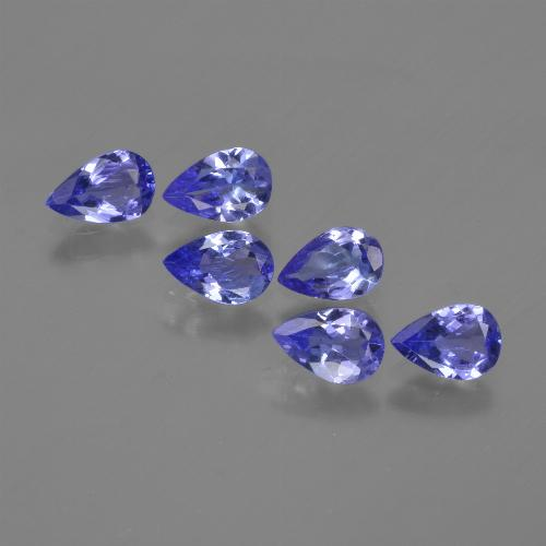 0.4ct Pear Facet Violet Blue Tanzanite Gem (ID: 420229)