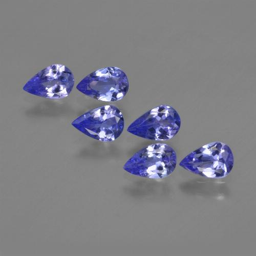 0.4ct Pear Facet Violet Blue Tanzanite Gem (ID: 420230)