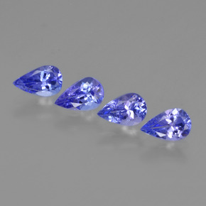 0.5ct Pear Facet Intense Blue Tanzanite Gem (ID: 420432)