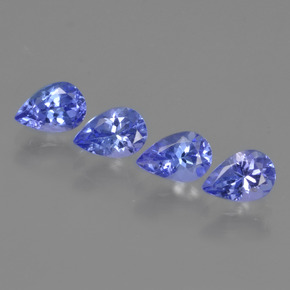 0.5ct Pear Facet Intense Blue Tanzanite Gem (ID: 420434)