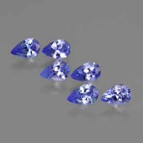 0.4ct Pear Facet Deep Blue Tanzanite Gem (ID: 420566)
