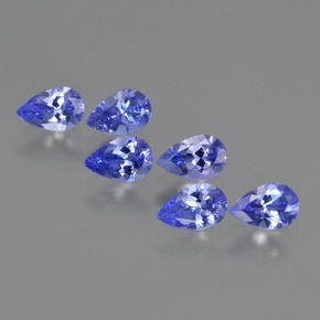 Violet Blue Tanzanite Gem - 0.4ct Pear Facet (ID: 420570)
