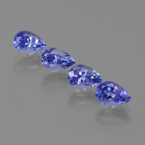 0.6ct Pear Facet Deep Blue Tanzanite Gem (ID: 420690)