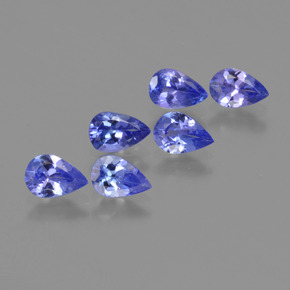 0.4ct Pear Facet Deep Violet Blue Tanzanite Gem (ID: 420698)