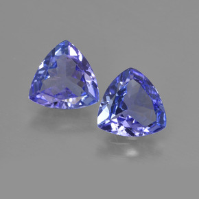 0.98 ct Trillion Facet Violet Blue Tanzanite Gemstone 7.09 mm x 7 mm (Product ID: 421169)
