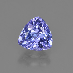 1.6ct Trillion Facet Intense Violet Blue Tanzanite Gem (ID: 421170)