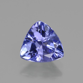 Violet Blue Tanzanite Gem - 1.1ct Trillion Facet (ID: 421342)