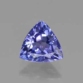 1.1ct Trillion Facet Violet Blue Tanzanite Gem (ID: 421490)