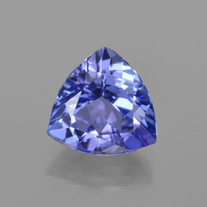 1.3ct Trillion Facet Deep Violet Blue Tanzanite Gem (ID: 421506)