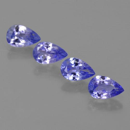 0.5ct Pear Facet Intense Violet Blue Tanzanite Gem (ID: 421859)