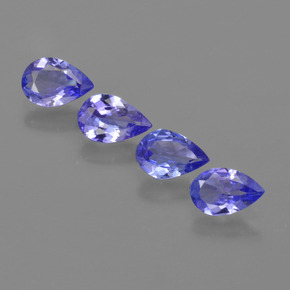 Violet Blue Tanzanite Gem - 0.3ct Pear Facet (ID: 421860)