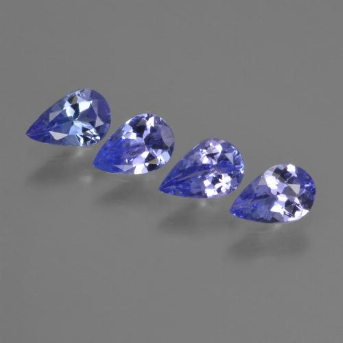 0.3ct Pear Facet Intense Violet Blue Tanzanite Gem (ID: 421939)