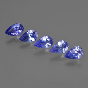 0.3ct Pear Facet Electric Blue Tanzanite Gem (ID: 421944)