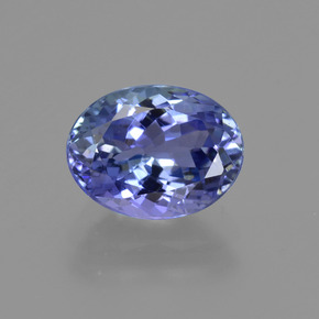 1.95 ct Oval Facet Deep Blue Tanzanite Gemstone 8.77 mm x 6.7 mm (Product ID: 422598)