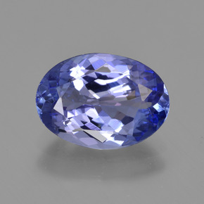 2.45 ct Oval Facet Violet Blue Tanzanite Gemstone 10.58 mm x 7.6 mm (Product ID: 423416)