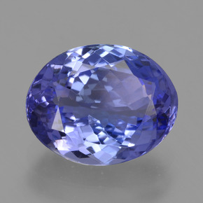 2.66 ct Oval Facet Violet Blue Tanzanite Gemstone 9.82 mm x 7.8 mm (Product ID: 423419)