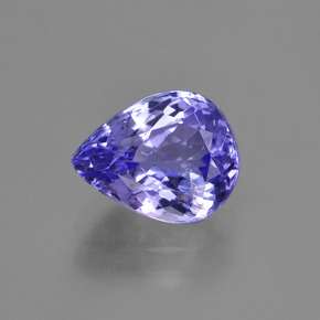2.35 ct Pear Facet Violet Blue Tanzanite Gemstone 9.22 mm x 7.3 mm (Product ID: 423497)