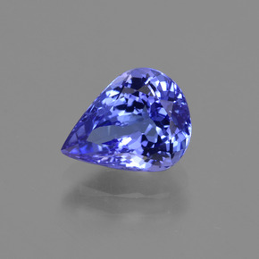 2.00 ct Pear Facet Violet Blue Tanzanite Gemstone 9.13 mm x 7.1 mm (Product ID: 423498)