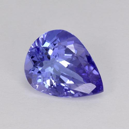 2.18 ct Pear Facet Violet Blue Tanzanite Gemstone 10.10 mm x 7.8 mm (Product ID: 423499)