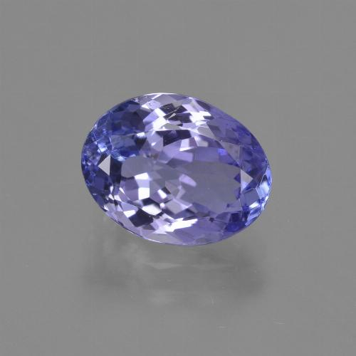 Intense Violet Blue Tanzanite Gem - 2.4ct Ovale sfaccettato (ID: 423502)