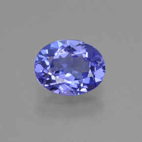 1.4ct Oval Facet Intense Violet Blue Tanzanite Gem (ID: 423613)