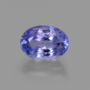 1.87 ct Oval Facet Violet Blue Tanzanite Gemstone 8.94 mm x 6.4 mm (Product ID: 423662)