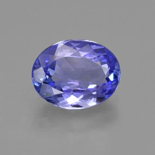 1.9ct Oval Facet Intense Violet Blue Tanzanite Gem (ID: 423665)