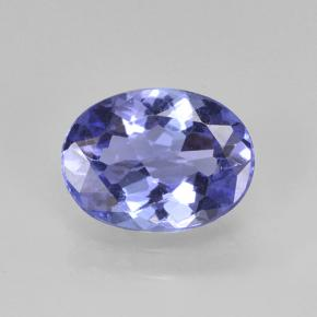 1.4ct Oval Facet Intense Violet Blue Tanzanite Gem (ID: 423676)