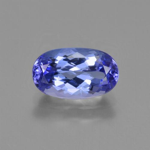 1.50 ct Oval Facet Deep Violet Blue Tanzanite Gemstone 9.18 mm x 5.5 mm (Product ID: 423684)