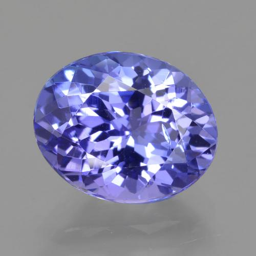 Violet Blue Tanzanite Gem - 2.9ct Oval Facet (ID: 423824)