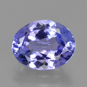 Intense Violet Blue Tanzanite Gem - 2.5ct Ovale sfaccettato (ID: 423826)