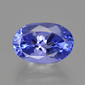 2.25 ct Oval Facet Violet Blue Tanzanite Gemstone 9.94 mm x 6.7 mm (Product ID: 423827)