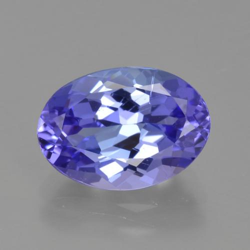 2.38 ct Oval Facet Violet Blue Tanzanite Gemstone 10.16 mm x 7.2 mm (Product ID: 423828)