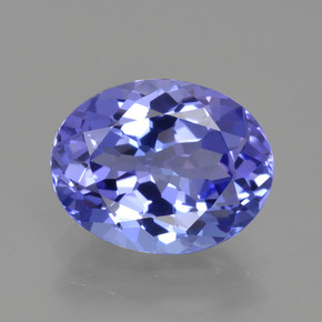 2.15 ct Oval Facet Violet Blue Tanzanite Gemstone 9.41 mm x 7.4 mm (Product ID: 423829)