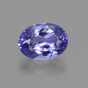 1.7ct Oval Facet Intense Violet Blue Tanzanite Gem (ID: 423862)