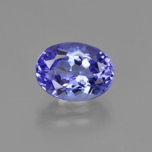 Intense Violet Blue Tanzanite Gem - 2.2ct Ovale sfaccettato (ID: 423961)