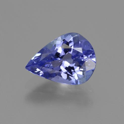 1.4ct Pear Facet Medium Navy Blue Tanzanite Gem (ID: 424071)