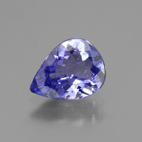 1.4ct Pear Facet Violet Blue Tanzanite Gem (ID: 424073)