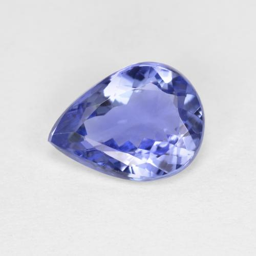 1.4ct Pear Facet Violet Blue Tanzanite Gem (ID: 424075)