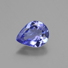 1.3ct Pear Facet Violet Blue Tanzanite Gem (ID: 424076)