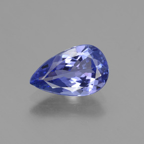 1.5ct Pear Facet Intense Violet Blue Tanzanite Gem (ID: 424081)