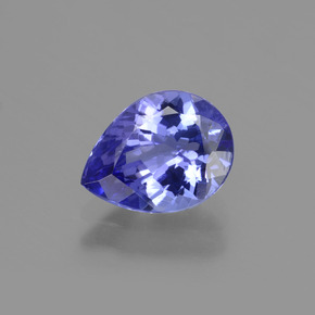1.6ct Pear Facet Violet Blue Tanzanite Gem (ID: 424091)