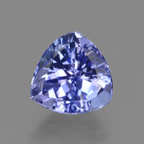 1.63 ct Trillion Facet Violet Blue Tanzanite Gemstone 7.66 mm x 7.5 mm (Product ID: 424100)