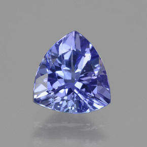 1.3ct Trillion Facet Violet Blue Tanzanite Gem (ID: 424125)