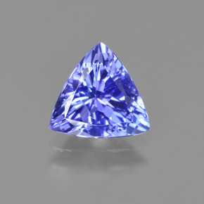 Violet Blue Tanzanite Gem - 1.4ct Trillion Facet (ID: 424211)