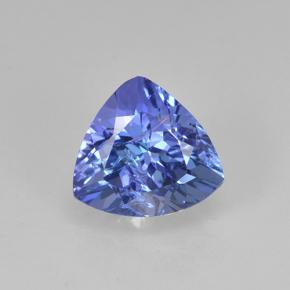 Violet Blue Tanzanite Gem - 1.5ct Trillion Facet (ID: 424372)