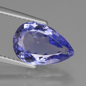 3.2ct Pear Facet Violet Blue Tanzanite Gem (ID: 424466)