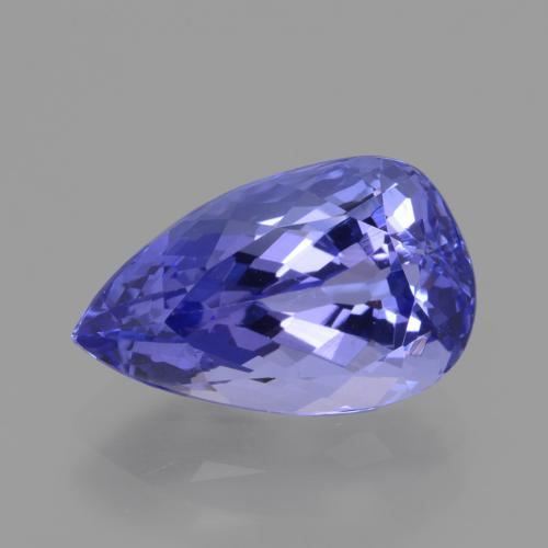 3.7ct Pear Facet Violet Blue Tanzanite Gem (ID: 424468)