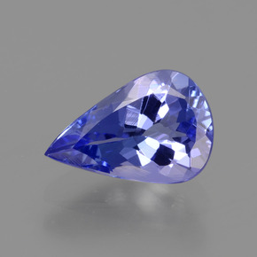 Violet Blue Tanzanite Gem - 1.2ct Pear Facet (ID: 424584)