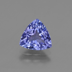 Violet Blue Tanzanite Gem - 1.5ct Trillion Facet (ID: 424691)